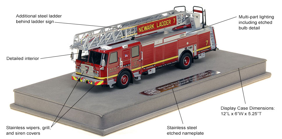 Features and specs of Newark Ladder 7 scale model