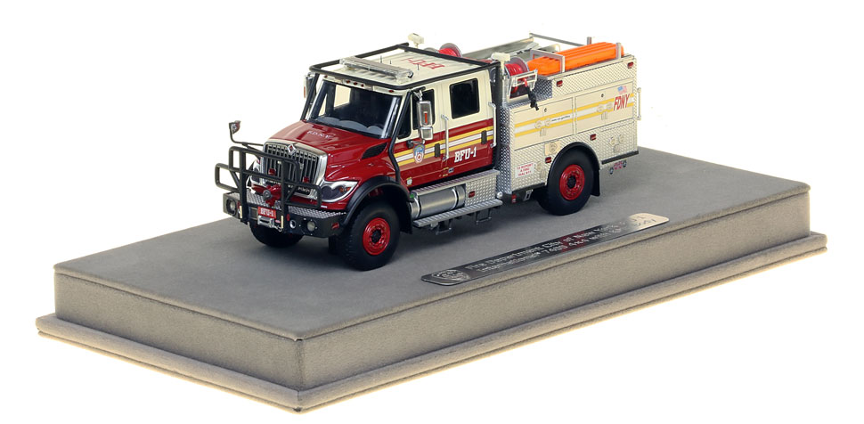 FDNY BFU 1 scale model includes a display-ready case