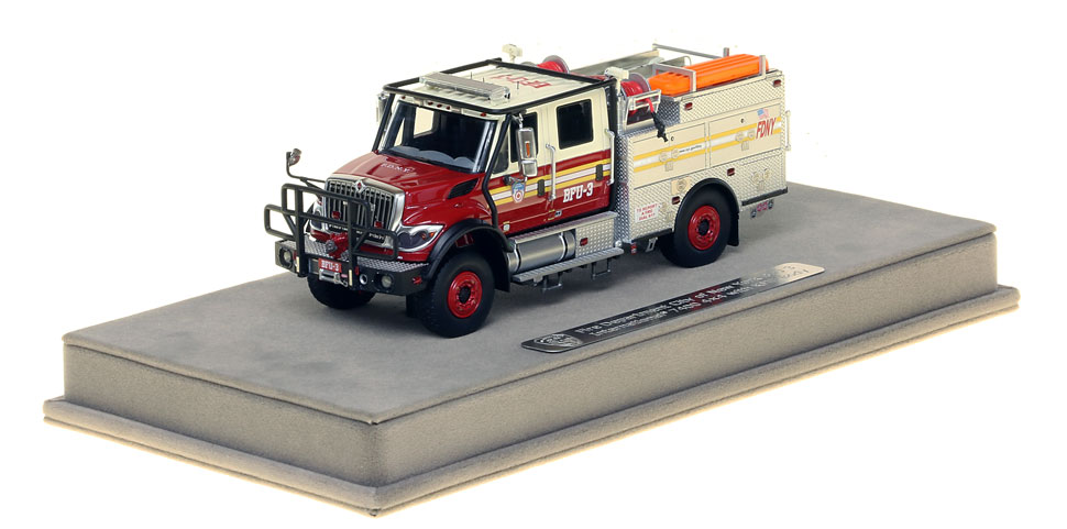 FDNY BFU 3 scale model includes a display-ready case