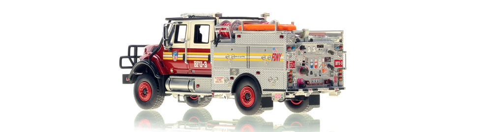 FDNY BFU 3 scale model is hand-crafted