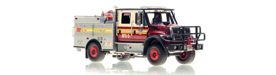 Authentic FDNY BFU 3 scale model from Staten Island