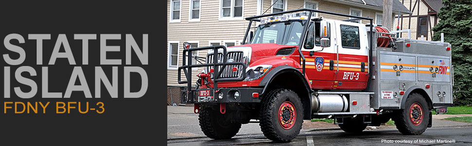 FDNY Brush Fire Unit 3 in Staten Island