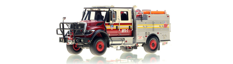 Authentic FDNY BFU 7 scale model from Queens, NY.