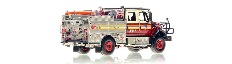 FDNY BFU 7 scale model is hand-crafted