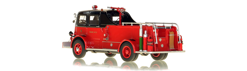 Chicago Fire Department 1952 Autocar Squad 2 scale model