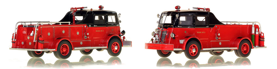 Chicago's 1952 Autocar Squad 2 is hand-crafted and intricately detailed.