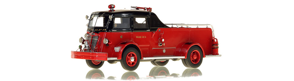 Chicago Fire Department 1952 Autocar Squad 6 scale model