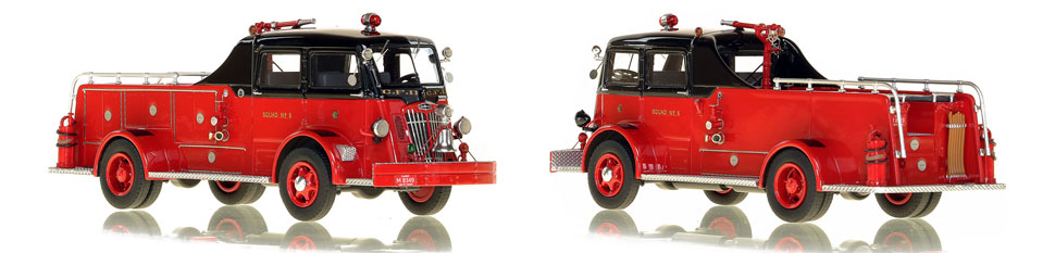 Chicago's 1952 Autocar Squad 6 is hand-crafted and intricately detailed.