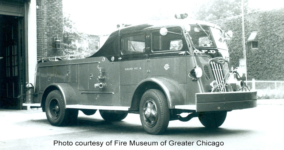 Chicago 1952 Autocar Squad courtesy of Fire Museum of Greater Chicago