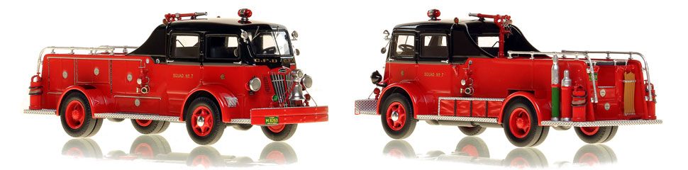 Chicago's 1952 Autocar Squad 7 is hand-crafted and intricately detailed.