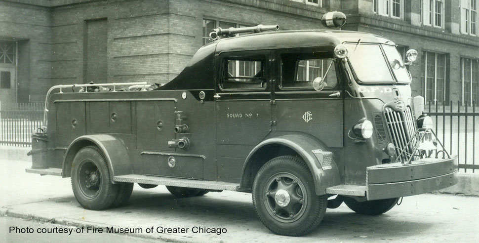Chicago 1952 Autocar Squad 7 courtesy of Fire Museum of Greater Chicago