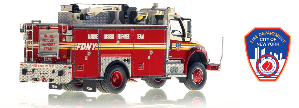 FDNY's Marine Incident Response on Freightliner M2 chassis scale model