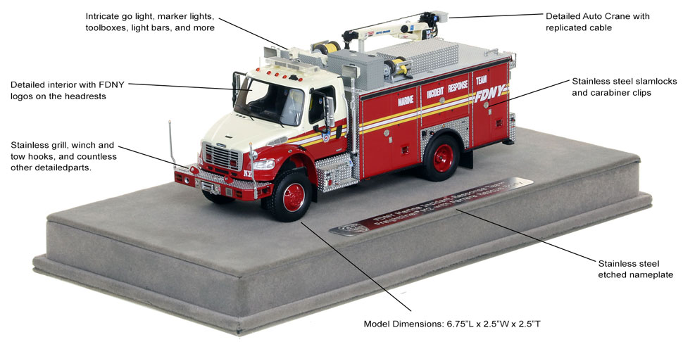 FDNY MIRT scale model includes authentic details