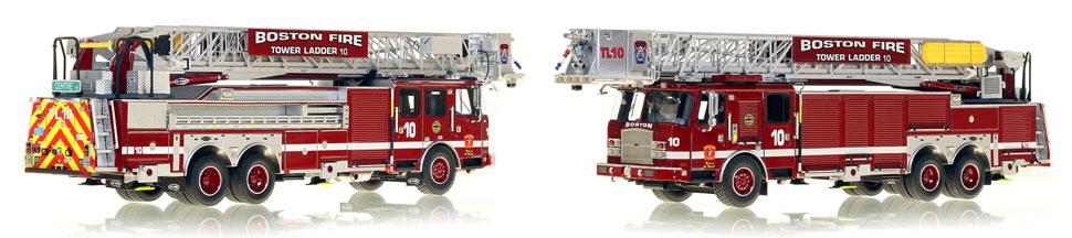1:50 Boston Tower Ladder 10 scale model