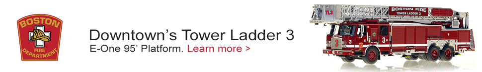 Downtown Boston's Tower Ladder 3 is now available to order!