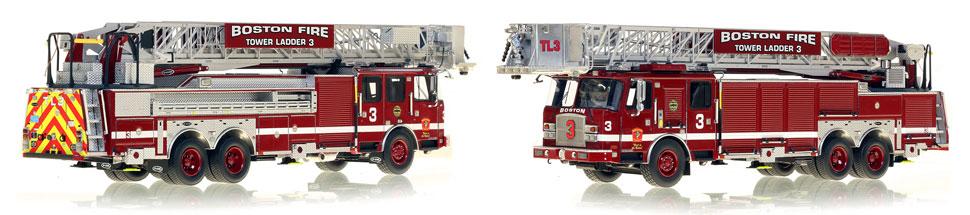 1:50 museum grade scale model for Boston Tower Ladder 3