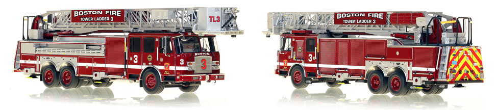 1:50 Boston Tower Ladder 3 scale model