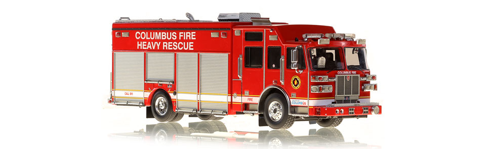 Columbus Division of Fire Sutphen Heavy Rescue scale model