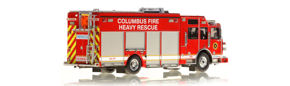 Production of the Columbus Heavy Rescue replica is limited to 250 units.
