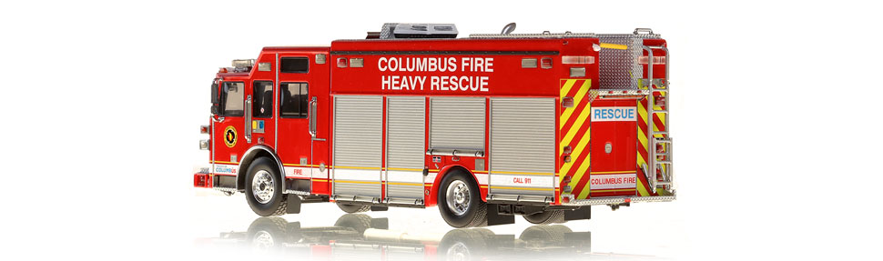 Columbus Heavy Rescue features over 430 intricately detailed parts.