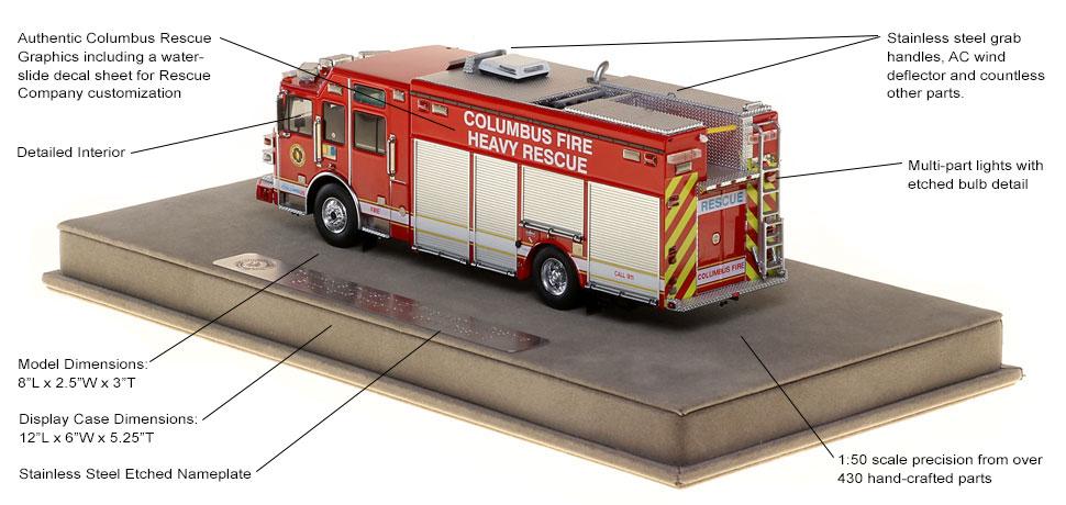 4x4 inch Round Columbus Ohio Fire Dept Sticker Logo Firefighter oh