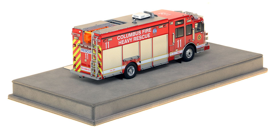 Columbus Heavy Rescue 11 features over 430 intricately detailed parts.