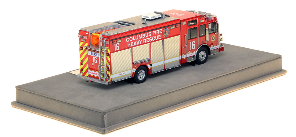 Columbus Heavy Rescue 16 features over 430 intricately detailed parts.
