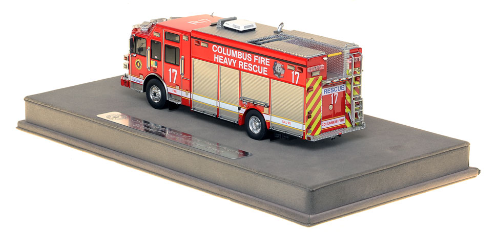 Columbus Rescue 17 includes a fully custom display case.