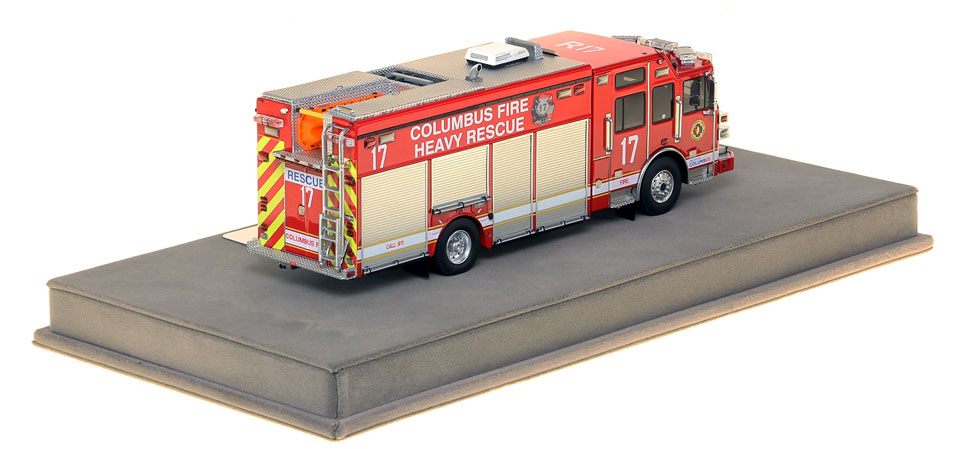 Columbus Heavy Rescue 17 features over 430 intricately detailed parts.