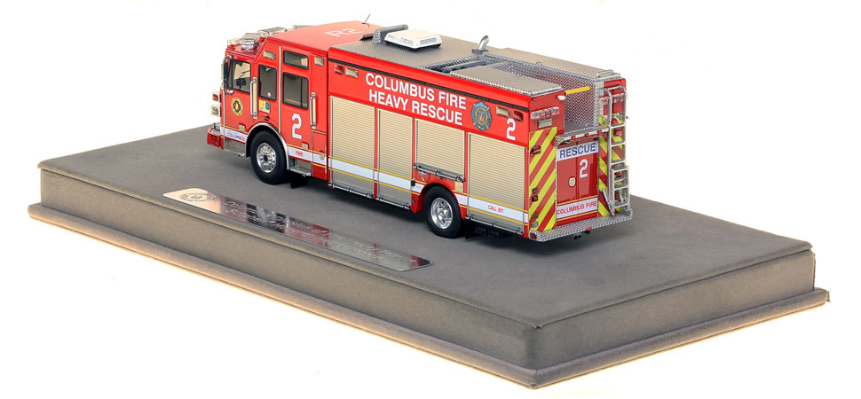 Columbus Rescue 2 includes a fully custom display case.
