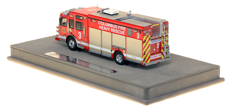 Columbus Rescue 3 includes a fully custom display case.