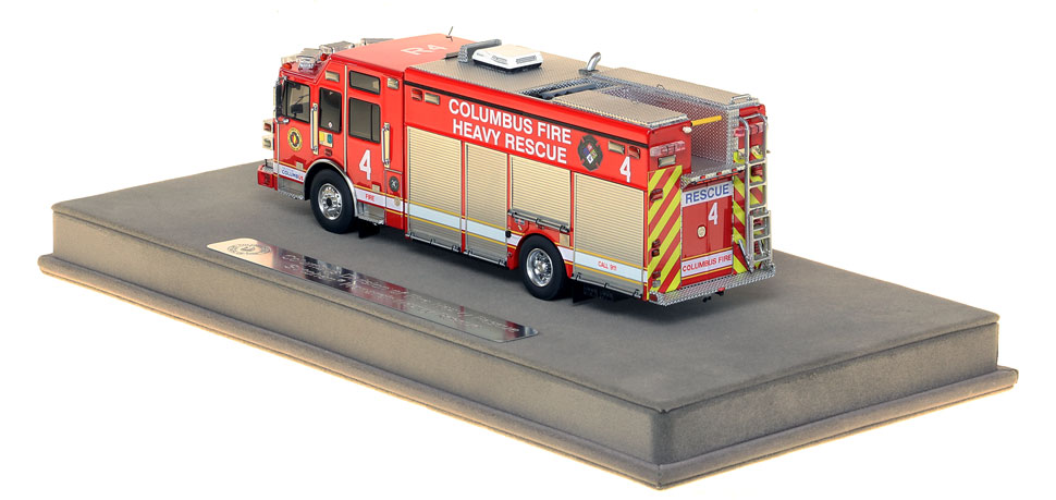 Columbus Rescue 4 includes a fully custom display case.