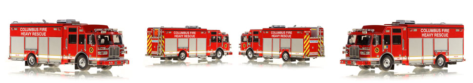 Columbus Division of Fire Heavy Rescue scale models