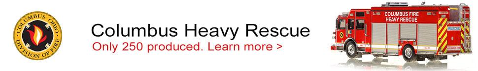Order your Columbus Sutphen Heavy Rescue scale model!