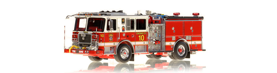 DC Fire & EMS Engine 10 replica features razor sharp accuracy