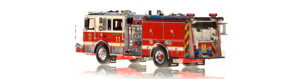 DC Fire Engine 11 is hand-crafted using over 590 parts.