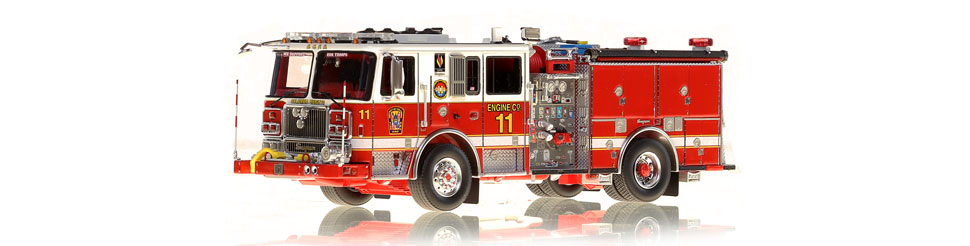 DC Fire & EMS Engine 11 replica features razor sharp accuracy