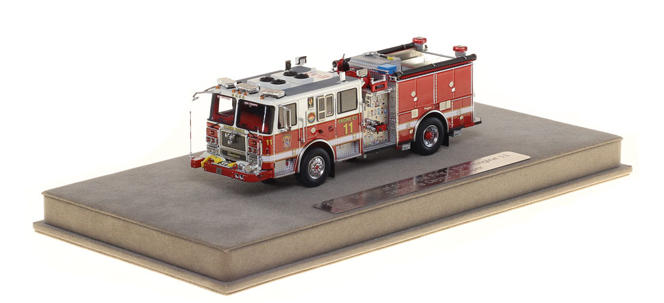 DC Fire Engine 11 includes a fully custom display case.