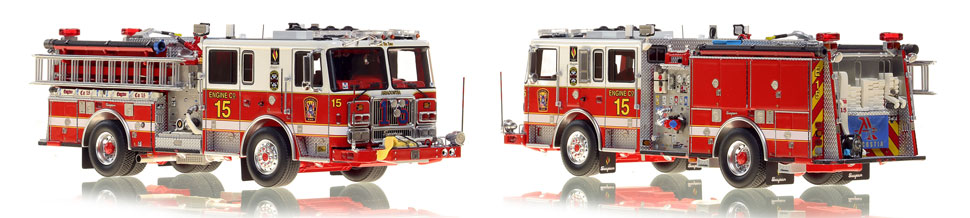 The first museum grade scale model Engine 15 for DC Fire and EMS