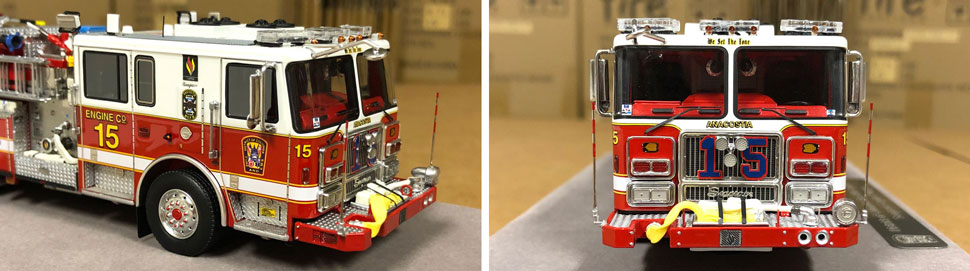 Close up images 5-6 of DC Fire & EMS Engine 15 scale model