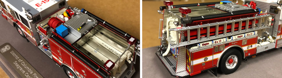 Close up images 3-4 of DC Fire & EMS Engine 15 scale model
