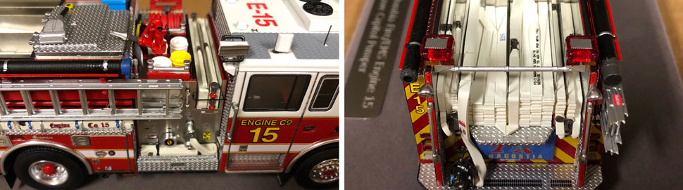 Close up images 7-8 of DC Fire & EMS Engine 15 scale model