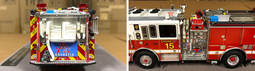 Close up images 1-2 of DC Fire & EMS Engine 15 scale model