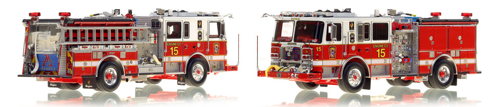DC Fire & EMS Engine 15 is hand-crafted and includes a custom case!