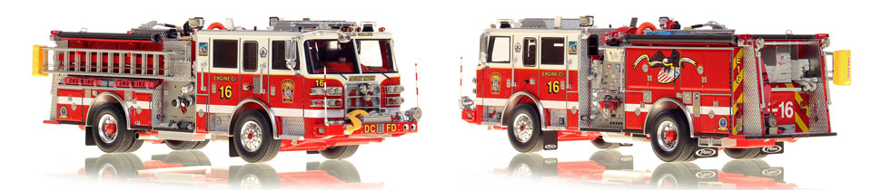 The first museum grade scale model Engine 16 for DC Fire and EMS