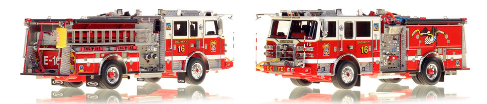 DC Engine 16 scale model is hand-crafted and intricately detailed.
