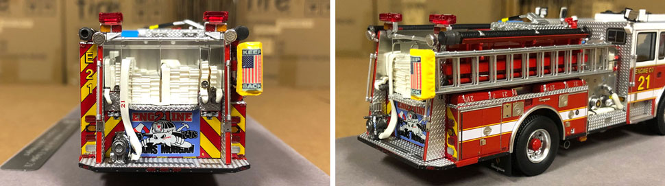 Close up images 1-2 of DC Fire & EMS Engine 21 scale model