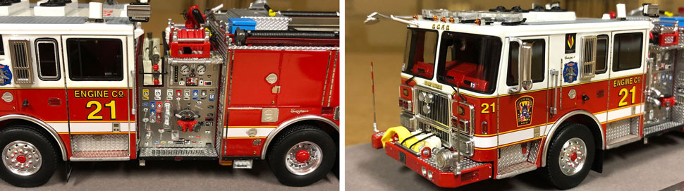 Close up images 7-8 of DC Fire & EMS Engine 21 scale model
