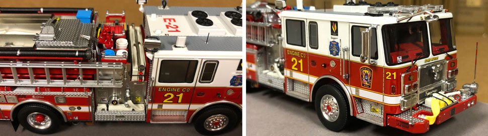 Close up images 9-10 of DC Fire & EMS Engine 21 scale model