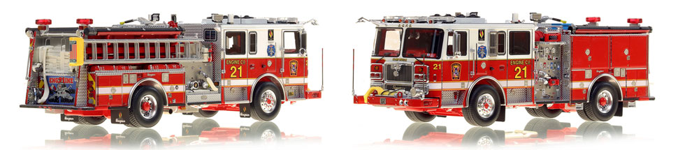 The first museum grade scale model Engine 21 for DC Fire and EMS